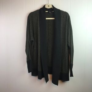 AB Studio | Size L. Open front ribbed cardigan